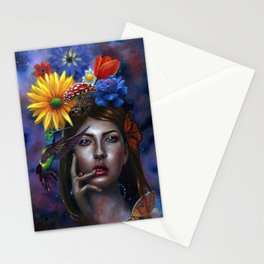 Mind Blown Oil Painting Stationery Cards