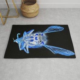 Blue Wasp Rug