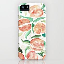 Watercolor Peaches iPhone Case