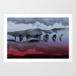 Inverted Moontime Art Print