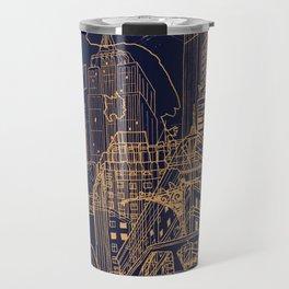 New York! Night Travel Mug