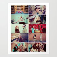 tenenbaum Art Prints featuring Tenenbaum by Malice of Alice