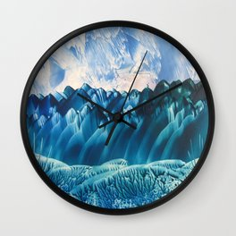Fantasy Turquoise and Teal Landscape Wall Clock