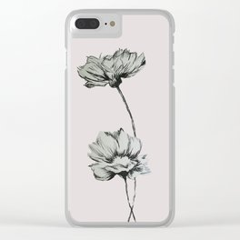 Pressed Flowers Clear iPhone Case