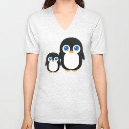 Adorable Penguins Unisex V-Neck