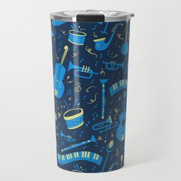 The Spirit of Jazz Pattern Travel Mug
