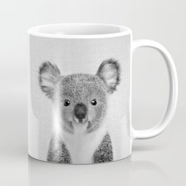 Baby Koala - Black & White Coffee Mug
