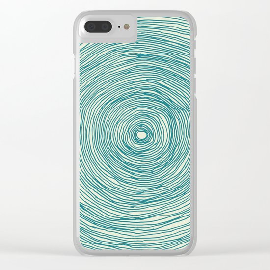 BLACK HOLE GREEN Clear iPhone Case