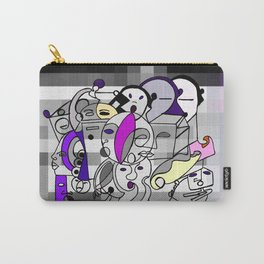Black White Commotion Carry-All Pouch