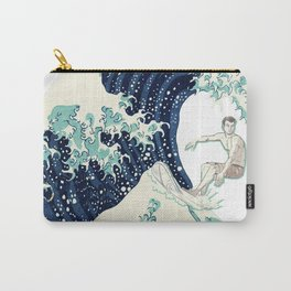 Surfer Japanese Great Wave Print Carry-All Pouch