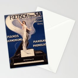 Plakat lausanne neuchatel vevey foetisch Stationery Cards