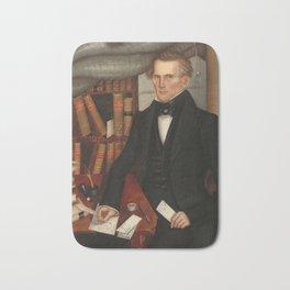 Vermont Lawyer Oil Painting by Horace Bundy Bath Mat
