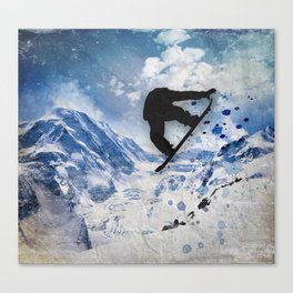Snowboarder In Flight Canvas Print