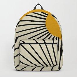 Golden retro Sun 1 Backpack