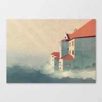 castle in the sky Canvas Prints featuring Castle in the Sky by Schwebewesen • Romina Lutz