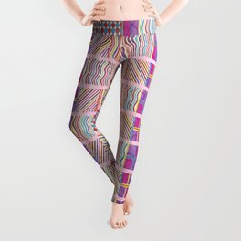 Seamless Colorful Geometric Pattern XXVII Leggings