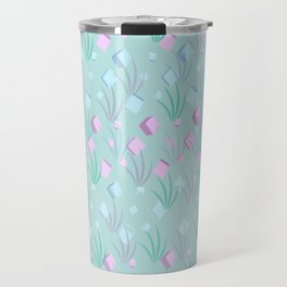 Floating Blocks Pastel Abstract Travel Mug