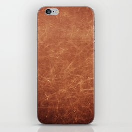Dark brown scratched texture abstract iPhone Skin