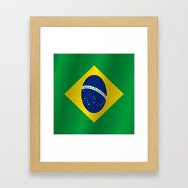 Flag of Brazil Framed Art Print