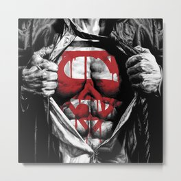 Superman Blood Logo Metal Print