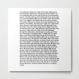 Sign of the Times (Lyrics) Metal Print