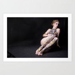 Gold Goddess V. Art Print