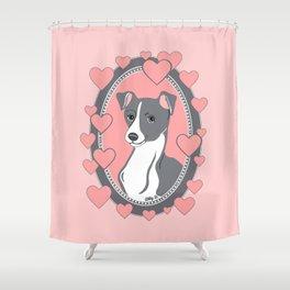 Italian Greyhound Love Shower Curtain