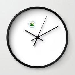 Funny Weed on my Mind T-shirt Marijuana Shirt 4 20 Wall Clock
