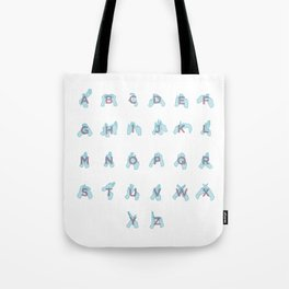 NZ Sign Language Alphabet Tote Bag