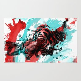 Tiger in the Paint Rug