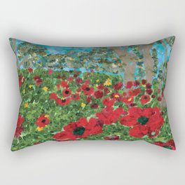 Field with poppies Rectangular Pillow