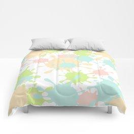 Paint Splatter-Pastels Comforters