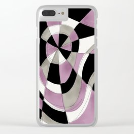 Purple Haze V Clear iPhone Case