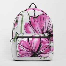 Flower in Pink Backpack