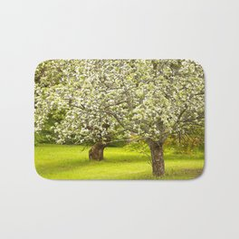 Flowering Apple Trees Bath Mat