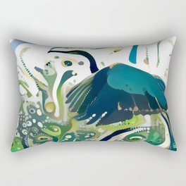 Heron Taking Flight Rectangular Pillow