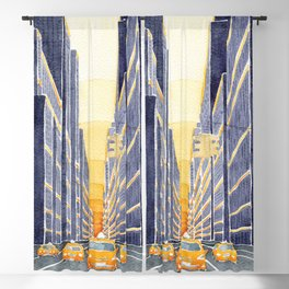 NYC, yellow cabs Blackout Curtain