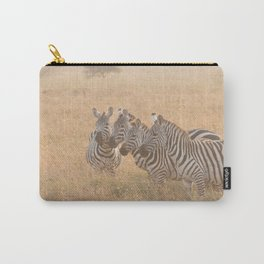 Zebras at Sunrise Carry-All Pouch