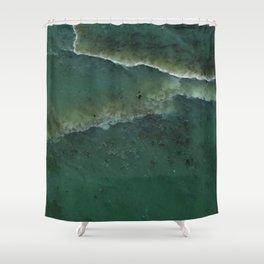 Green pounamu Shower Curtain