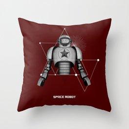 Space robot 4 Throw Pillow