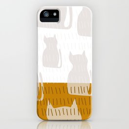 Coit Cat Pattern 4 iPhone Case