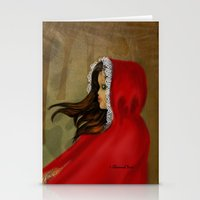 red riding hood Stationery Cards featuring Red Riding Hood by Alannah Brid