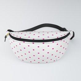 Medium Dark Hot Pink on White Polka Dots Fanny Pack