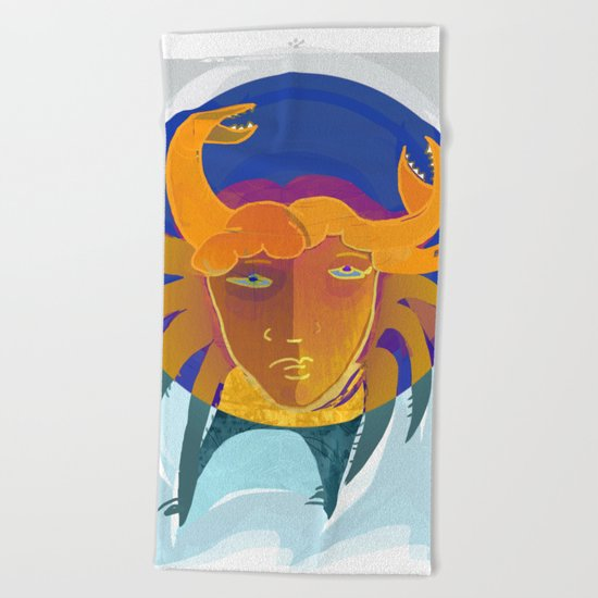 Cancer / Altarf / Zodiac Beach Towel