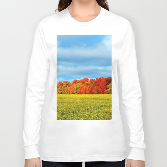 The Field and the Forest in October Long Sleeve T-shirt