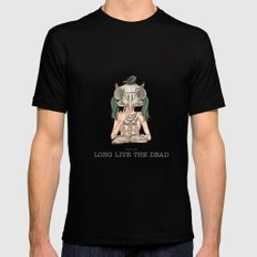 Long live the dead - Owl Mens Fitted Tee MEDIUM Black