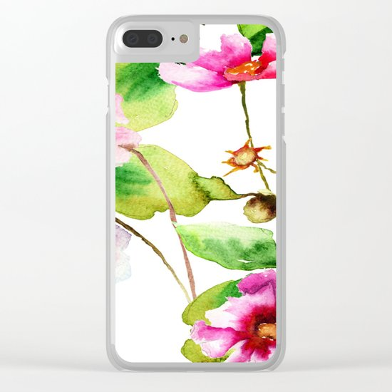 Flowers 03 Clear iPhone Case
