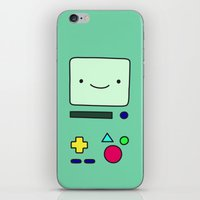 bmo iPhone & iPod Skins featuring BMO by Arielle Weiler