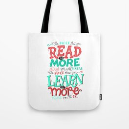 Read More Learn More Tote Bag