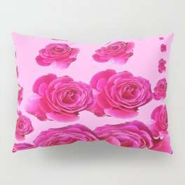 PINK SURREAL TOWERS OF  FUCHSIA PINK ROSES Pillow Sham